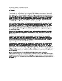 Essay on the anisazi