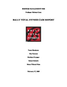 marketing for bally total fitness essay Check out our top free essays on case analysis for bally total fitness to help you write your own essay brainiacom join now login bally total fitness marketing audit bally total fitness is the largest.