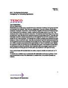 an analysis of having identified safeways main competitors tesco and asda