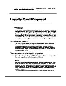loyalty card proposal The key to creating loyalty programs  your brand advocates is with a referral program — help scout is currently giving customers a $100 amazon gift card when.