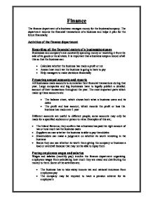 Business studies coursework 2005