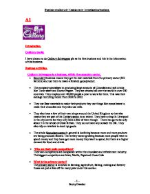 cadbury schweppes essay Cadbury is a leading global confectionery company advertising essay  a buyer will get it and the level of sales can determine whether cadbury schweppes will make.