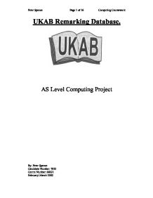 ukab remarking database essay A second way to find articles is to click on the word databases, beneath the  library search box click on a subject discipline for a list of.