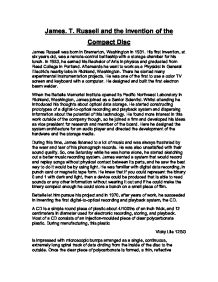 james t russell and the invention of the compact disc a level  page 1 zoom in
