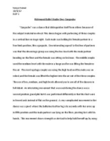 Jazz split dance definition essay