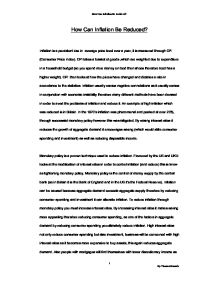 effects of inflation essay