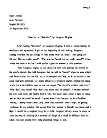 langston hughes salvation essay langston hughes essay gxart  langston hughes essay gxart orgafter reading salvation by langston hughes i have a mixed feeling