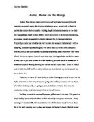 descriptive essay just about anything that could go wrong an  home home on the range