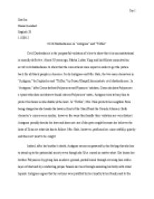 antigone and mrs hale the two main characters in antigone by  page 1 zoom in