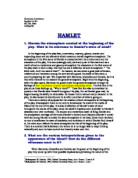 hamlets antic disposition and its impact in shakespeares play hamlet As the play closes, fortinbras arrives activities which follow are intended to involve students in discovering the historical impact of shakespeare's hamlet and.