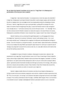 hamlet tragic figure essay