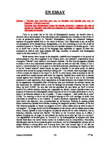 essay on polonius character The character polonius in shakespeare's hamlet essay examples 535 words 3 pages the character polonius in shakespeare's hamlet no works cited in hamlet, polonius is a well-respected and important person it seems appropriate that he investigates and controls the behavior of his son laertes and daughter.