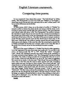 An analysis of thistles a poem by ted hughes