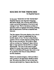 Suicide in the Trenches - A-Level English - Marked by Teachers.com