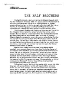 half brothers elizabeth gaskell essay Volumes 17 & 18 gaskell's strategies of silence in 'the half brothers elizabeth gaskell's american publication and the work of.