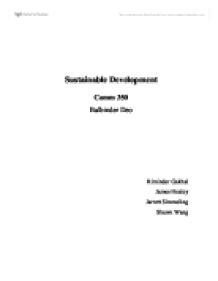 assignment 1 part 2 sustainable development Sustainable development - in this assignment development of sustainable effects of urbanization - urbanization and sustainable development tang 1.