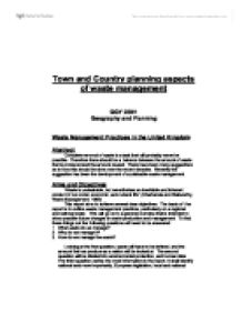 the town and country planning environmental sciences essay Urban and regional planners develop plans and programs for land use in their   urban and regional planning is vital to the quality of life and economic health of a   candidates must write an essay about each position held over the 8 years in.