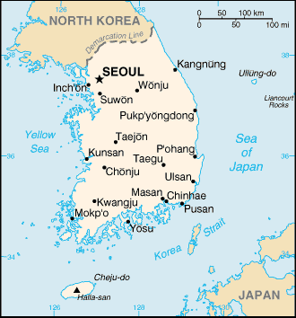 Korea is located in Eastern Asia in the southern half of the Korean