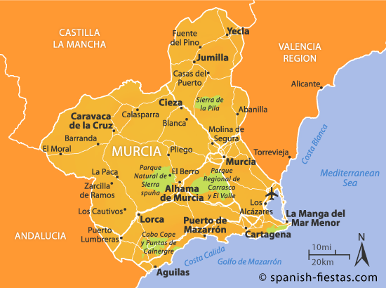 Map Of Spain Showing Murcia.Report On Spain And The Tourist Attractions Of Murcia A Level