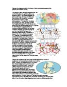 Plate Tectonics Cause and Effect