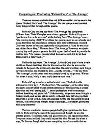 Essay about richard cory