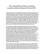 how successful were the labour government reforms of in how successful were peels social and economic reforms between 1841 and 1846