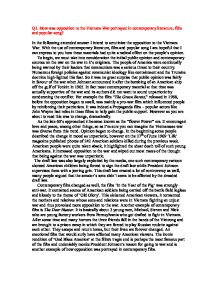 united states involvement in south vietnam essay Free essays regarding us involvement vietnam war for it aided south vietnam and expanded its advisers in north and south the united states of.