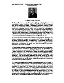 an introduction to the history of the truman doctrine The truman doctrine admin — january 31st, 2010  at the present moment in world history nearly every nation must choose between alternative ways of life.