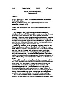 an introduction to the history of gcse coursework the knowledge of the first world war Cambridge igcse history (0470) the emphasis is on both historical knowledge and on the skills required for both coursework and non-coursework options are.
