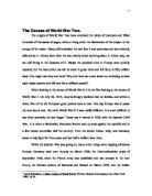 Columbia Business School Essay The Causes Of World War Two Making A Thesis Statement For An Essay also How To Start A Synthesis Essay The Causes Of The First World War  Alevel History  Marked By  Term Paper Essay