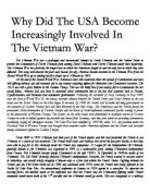 how did the united states become increasingly involved in vietnam  related as and a level international history 1945 1991 essays