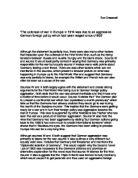 war in europe essays