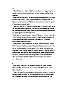 The accession of philip ii in 1556 essay