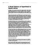 what were the main aims of the apartheid between and  a brief history of apartheid in south africa