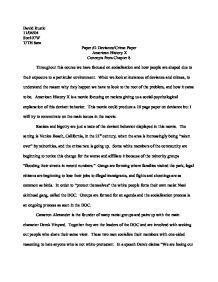 psychological concepts in american history x essay Racism term papers (paper 7248) on american history x : racism can be defined as the belief that one race is superior to all other races racism has been around for.