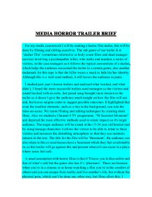 basics of a horror film essay Marketing a film when a new film is made,  horror story might be unique because of the type of creature that comes to life or because bruce willis,.