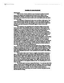 television news analysis essay