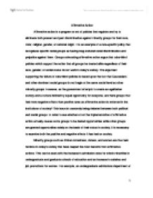 Affirmative Action Debate Essay