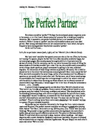 my ideal partner essay Our depot contains over 15,000 free essays read our examples to help you be a better writer and earn better grades.