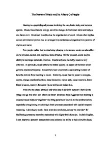 Free music Essays and Papers - 123HelpMe com
