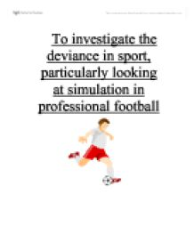 deviance in sports essay