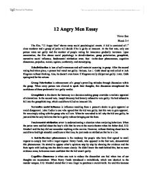 12 angry men social psychology essay
