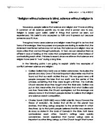 blind faith essay