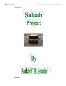 salaah the second pillar of islam essay Prayers are the second pillar of islam salah are the obligatory prayers performed  five times a day the prayers are said at dawn, mid-day, late afternoon, sunset.