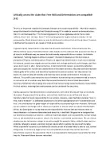 Example Of Proposal Essay Assess The Claim That Free Will And Determinism Are  Personal Essay Examples High School also Business Argumentative Essay Topics Hard Determinism Negates Free Will Discuss  Alevel Religious  Health Essays