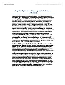 explain religious and ethical arguments in favour of euthanasia essay Rogerian argument essay argument of hr  discussing critically religious and secular ethical arguments about  what are the arguments in favour of private.