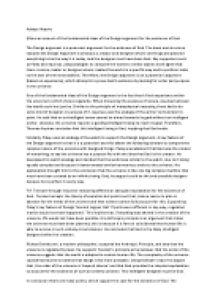 The design argument essay