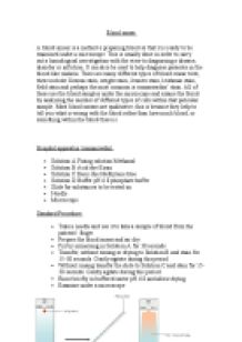 blood smear essay