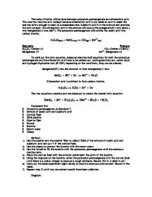 experiment to find the concentration of the ethanedioic acid essay Category: essays research papers title: determination of the molarity of a  permanganate  the purpose of this experiment is to determine the molarity of a   next, add 2500ml of the oxalic acid into a 250ml erlenmeyer flask (using the .