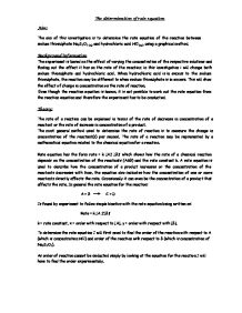 the determination of a rate equation essay 14 impulse responses, welfare analysis and exchange rate policy  of  substitution between home and foreign goods in determining the.